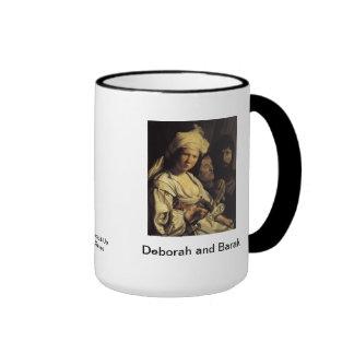 Deborah and Barak  Judges 4 Ringer Mug