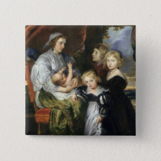 Deborah Kip and Her Children 15 Cm Square Badge