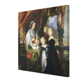 Deborah Kip and Her Children Canvas Print