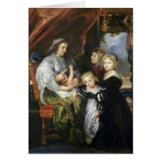 Deborah Kip and Her Children Card