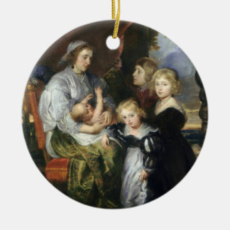 Deborah Kip and Her Children Christmas Ornament