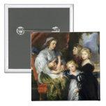 Deborah Kip and Her Children Pinback Buttons