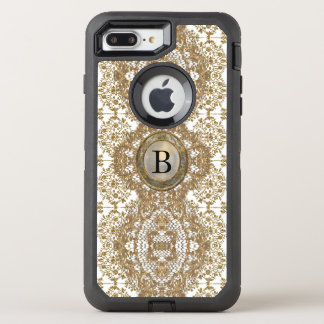 Deborah Monogram Girly Victorian Lace OtterBox Defender iPhone 8 Plus/7 Plus Case