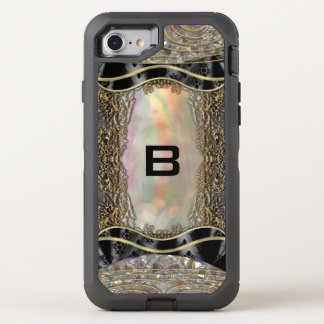 Debsaulea Elegant Vintage Art Deco Monogram OtterBox Defender iPhone 7 Case