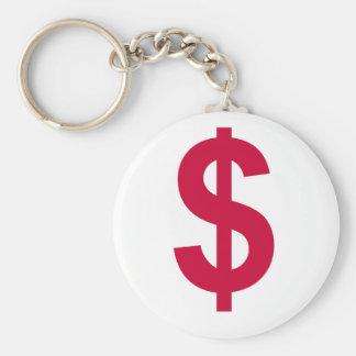 debt basic round button key ring