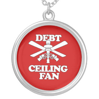 DEBT CEILING FAN SILVER PLATED NECKLACE