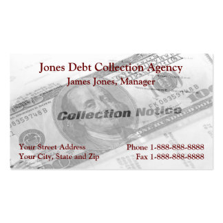 Debt Collection Collector Agency Business Card
