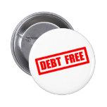 Debt Free Buttons