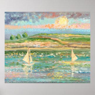 Debussy, Reflets dans l'eau Poster