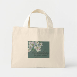 Debut Congratulations Spring Beauty Wildflower Canvas Bags
