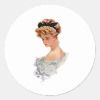Debutante Classic Round Sticker