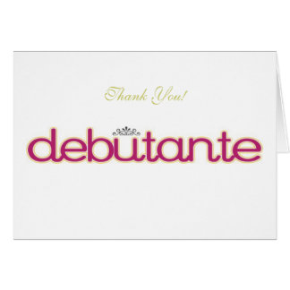 Debutante Collection Blank Thank You Note Cards