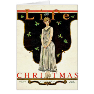 Dec 1923 Christmas illustration by Coles Phillips Greeting Card