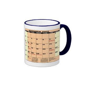 Dec 2012 Patrotic Calendar Mug Please See Notes