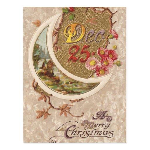 Dec. 25th Christmas Vintage Card Postcard