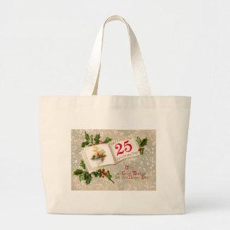 Dec 25th Church Holly Snow Jumbo Tote Bag