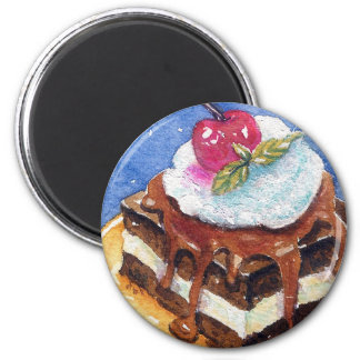 Decadent Brownie Magnet