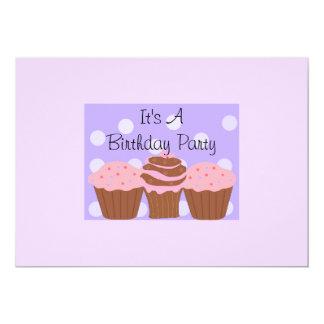 Decadent Cupcakes Birthday Party 13 Cm X 18 Cm Invitation Card