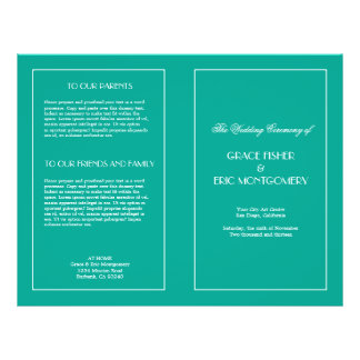 Decadent Deco elegant chic formal wedding program 21.5 Cm X 28 Cm Flyer