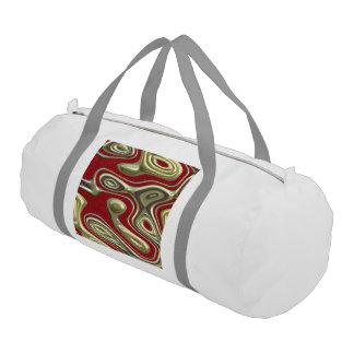 decadent illusion,red gym duffel bag