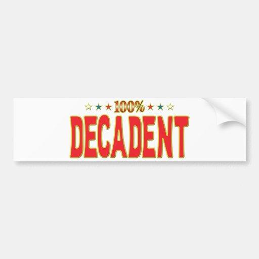 Decadent Star Tag Bumper Stickers