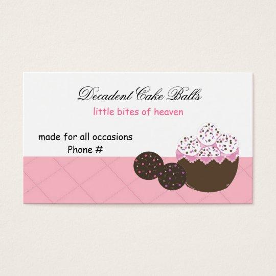 Decadent Vanilla and Chocolate Cake Balls Business Card