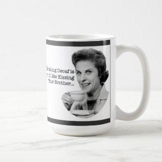 Decaf coffee=bad basic white mug