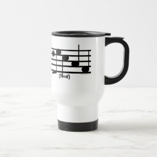 """Decaf"" Treble Clef Coffee/Tea Container Travel Mug"