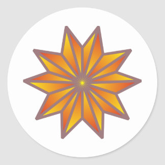 Decagon star decagon star round sticker