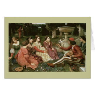 Decameron by John William Waterhouse (1916) Greeting Card