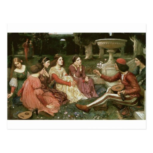 Decameron by John William Waterhouse (1916) Post Card