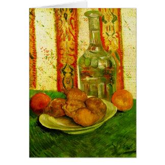 Decanter Lemons & Plate Van Gogh Fine Art Greeting Card