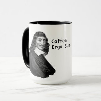 Decartes Coffee Ergo Sum Mug