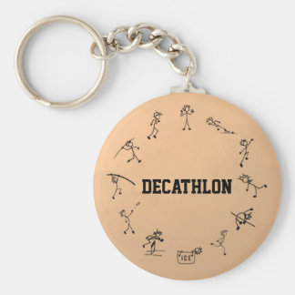 Decathlon Stickman Track and Field Athletics Basic Round Button Key Ring