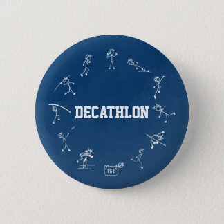 Decathlon Stickman Track and Field Athletics Blue 6 Cm Round Badge