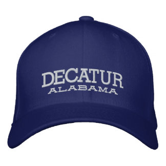 DECATUR, ALABAMA HAT EMBROIDERED BASEBALL CAP