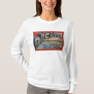 Decatur, Alabama - Large Letter Scenes T-Shirt