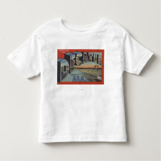 Decatur, Alabama - Large Letter Scenes Toddler T-Shirt