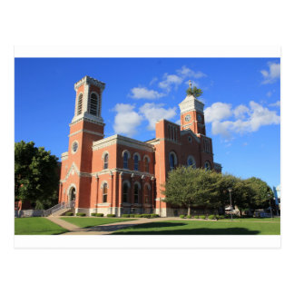 Decatur County Courthouse Tower Tree Postcard
