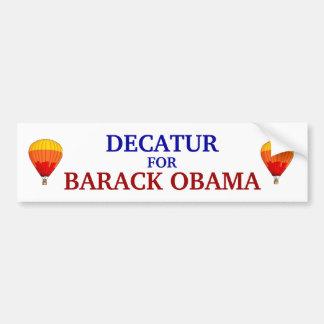 Decatur for Barack Obama bumper sticker