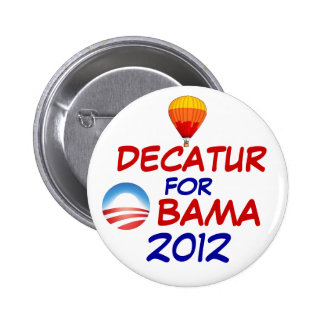 Decatur for Obama Pin