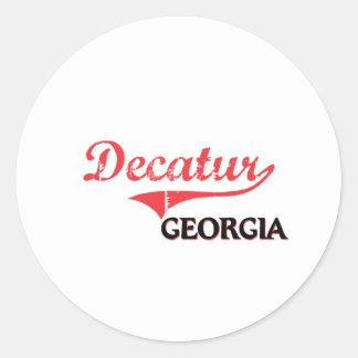 Decatur Georgia City Classic Round Sticker