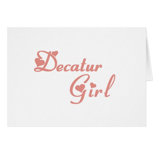 Decatur Girl tee shirts Card