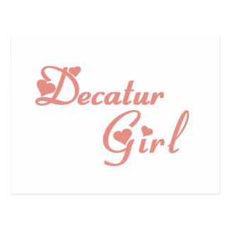 Decatur Girl tee shirts Post Card