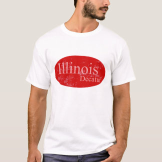 Decatur Illinois Red T-Shirt