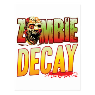 Decay Zombie Head Post Cards