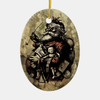 Decayed Victorian Santa Christmas Ornament