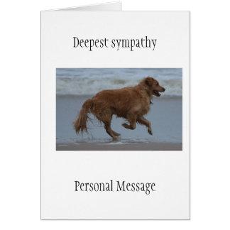 Deceased dog in loving memory golden retriever card