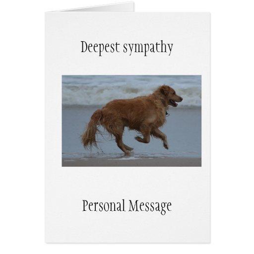Deceased dog in loving memory golden retriever greeting card