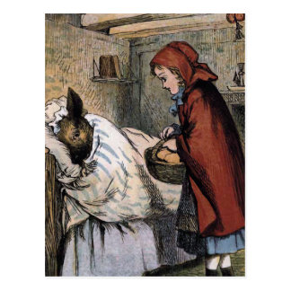 Deceiving Red Riding Hood Postcard